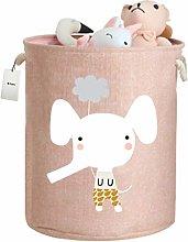Fieans Nursery Toys Storage Basket Large Foldable