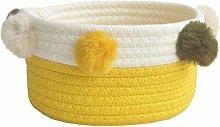 Fieans Small Storage Basket Bicolor Natural Cotton