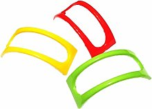 FiedFikt 12Pcs Colorful Plastic Taco Shell Holder