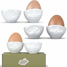 Fiftyeight Funny Egg Cups Set of 6 Egg Cups-Set of