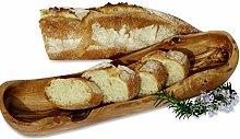 Figura Santa Olive Wood Bread Basket BAGUETTE.