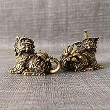 Figurine Animal Statue Ornaments Bronze Feng Shui
