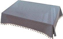 Figutsga Faux Cotton Linen Table Cloth Stripe