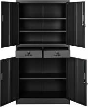 Filing cabinet with 2 drawers - metal filing