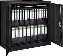 Filing cabinet with 3 compartments - black