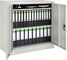 Filing cabinet with 3 compartments - grey