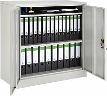 Filing cabinet with 3 compartments - metal filing