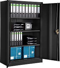 Filing cabinet with 4 shelves - black