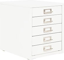 Filing Cabinet with 5 Drawers Metal 28x35x35 cm