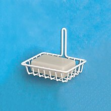 Filtex Plastic Basket. Soap Dish, Silver, Unique