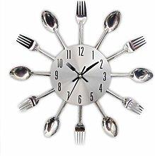 FILWO Kitchen Clock Cutlery Clock Kitchen Fork