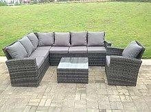 Fimous 7 Seater rattan corner sofa set square