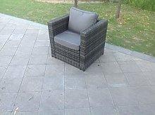 Fimous Rattan Single Sofa Chair Garden Furniture