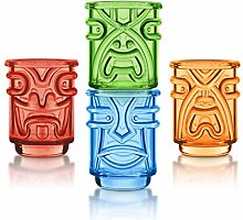 Final Touch TIKI Stackable Shot Glasses COLOURED