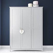 Finch Triple Wardrobe in Light Grey