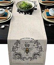 Findamy Sweet Honey Bee Table Runner Dresser 16x72