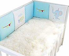 Fine 6 Pcs Baby Cot Bumper Head Protection Bedding