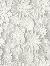 Fine Décor Fine Decor 3D Effect Floral White &