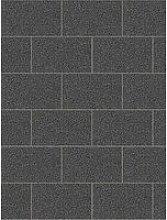 Fine Décor London Tile Black Plain Glitter