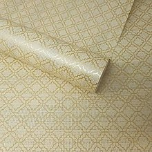 Fine Decor - Paste The Wall Beige and Gold Trellis
