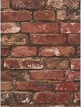Fine Décor Rustic Red Brick Wallpaper