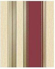 Fine Décor Synergy Stripe Rich Red Striped