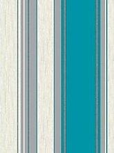 Fine Décor Synergy Stripe Teal Striped Glitter