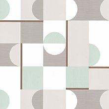 Fine Décor - White, Grey, Green and Metallic Gold
