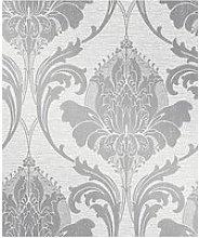 Fine Décor Zahra Silver Grey Damask Wallpaper