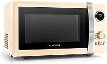 Fine Dinesty 2in1 Microwave Oven Retro 23L 800W 12 Programs Cream