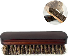 Fine horsehair soft leather cleaning brush for
