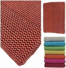 Fine Woven Cotton Throw Blanket - Textured Blanket