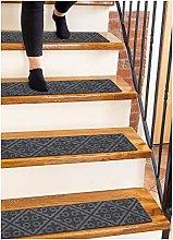 Finehous Carpet Stair Treads Non-Slip Gray