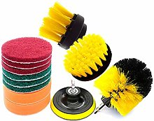 Finelyty 12PCS/3PCS Drill Scrub Brushes Attachment