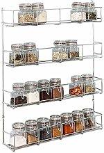 FiNeWaY@ 4 Tier Chrome Spice HERB JAR Rack Holder