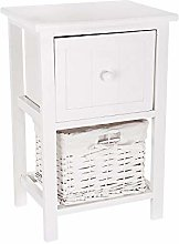 FiNeWaY Fully Assembled White Shabby Chic Bedside
