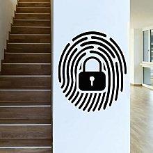 Fingerprint Unlock Wall Sticker Private Secret
