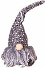 FINIVE Christmas Gnome Santa Doll with LED