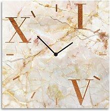 Finn Analog Wall Clock Canora Grey Colour: Beige
