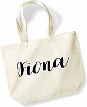 Fiona Personalised Shopping Tote in Natural Colour