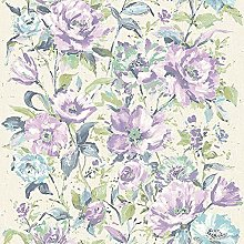 Fiore Floral Wallpaper Textured Paste The Wall