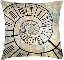 Firat Clock Roman Digit Time Spiral Outdoor