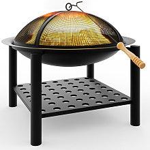 Fire Bowl Pit Basket Stainless Steel BBQ Garden