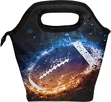 Fire Ice American Football Lunch Bag Insulated