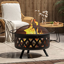 Fire Pit BBQ Firepit Brazier Outdoor Garden Stove