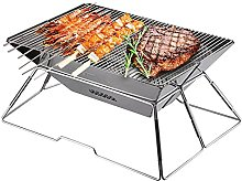 Fire Pit, Charcoal Stainless Steel Foldable