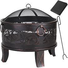 Fire Pit Fire Bowl Round Ø 67 cm Steel Spark