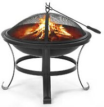 Fire Pit Outdoor Round Brazier Heating Fireplace