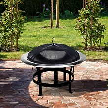 Fire Pit Stainless Steel Fireplace Bowl Safe and