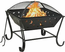 Fire Pit with Poker 62 cm XXL Steel - Youthup